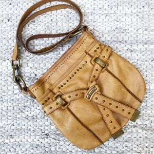 B. Makowsky | Studded Leather Crossbody Bag